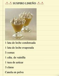 Suspiro limeño Mini Desserts, Sweet Desserts, Easy Desserts, Delicious Desserts, Peruvian Cuisine, Peruvian Recipes, Mini Dessert Shooters, Chilean Recipes, Christmas Buffet