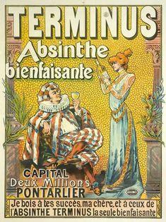 Affiche publicité Absinthe