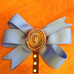 Lollipop hair bow made by me!