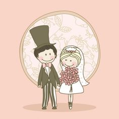 Cartoon-style wedding elements 04-- vector material