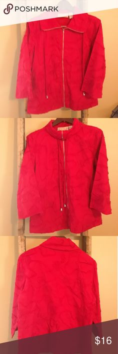 "Sonoma- Life Style Cotton Red Jacket, Sz L Sonoma Red Soutache Embellished  Jacket 100% Cotton Size L  Shoulder  17"" Bust (pit to pit) 20"" (40"") Sleeve  18.25: Sonoma Jackets & Coats"
