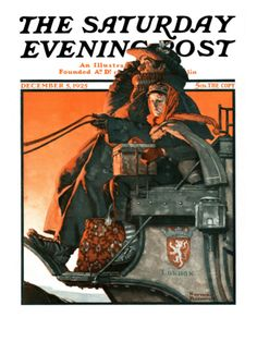 """London Coach"" By Norman Rockwell. Issue: December 5, 1925. ©SEPS. Giclee print available at Art.com."