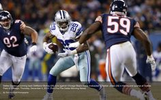 Dallas Cowboys running back DeMarco Murray (29) runs against Chicago Bears' inside linebacker Christian Jones (59) during the 2nd qtr of a Dec 4, 2014 game at Soldier Field in Chicago. Via The Dallas Morning News. #Dallas #Cowboys #DallasCowboys #NFL #NFC