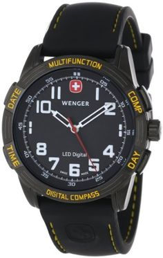 awesome Wenger Men's 70434 LED Nomad Compass Patagonian Expedition Race Watch Check more at https://www.pvd-coatings.co.uk/product/wenger-mens-70434-led-nomad-compass-patagonian-expedition-race-watch/