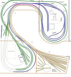 Trackplan Database - Have you posted yours? N Scale Train Layout, Ho Train Layouts, N Scale Trains, Ho Trains, Railroad Industry, Model Railway Track Plans, Trains For Sale, Model Training, Standard Gauge
