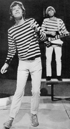 The Rolling Stones---love the mariner stripe look