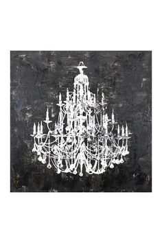 Large Chandelier Diamond Dust Canvas Art Available To Here Http