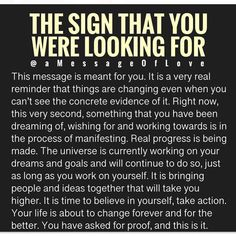 Oh my gosh I actually asked for a sign yesterday! Spiritual Awakening, Spiritual Quotes, Wisdom Quotes, Life Quotes, Daily Quotes, Spiritual Practices, Positive Affirmations, Positive Quotes, Motivational Quotes