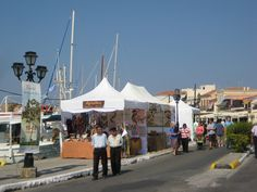The pistachio festival (Fistiki Fest) at the port of Aegina