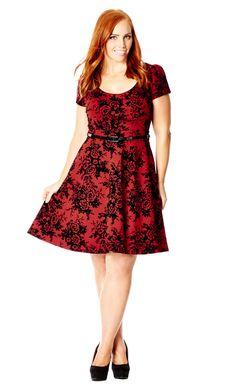Romantic Flock Dress - City Chic on line. Plus size fashion (affiliate)