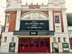 There was a VERY cute proposal at the Ritzy Cinema yesterday