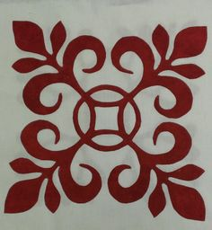 Sue Garman, Sarah's Revival block for raffle quilt Hawaiian Quilt Patterns, Applique Quilt Patterns, Hawaiian Quilts, Quilting Tutorials, Quilting Projects, Quilting Designs, Aplique Quilts, Tropical Quilts, Ceramic Tile Art