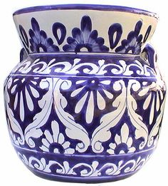 Talavera pottery...I really like the blue and white pieces.  I have just one or two small items, but I think they are beautiful.