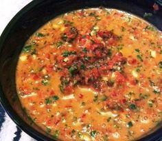 Soppasirkus: Mojo-kastike Flank Steak, Cheeseburger Chowder, Curry, Soup, Ethnic Recipes, Spreads, Dressings, Sauces, Skirt Steak