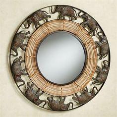 Elephant Parade Round Wall Mirror