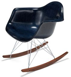 Black Modernica Fiberglass Rocker Arm Chair / Product available on HomeLovers.pl