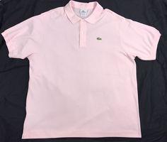 Men's Lacoste shirt collar button down Pink Size 8 US size 3XL Men's polo shirt #Lacoste #ButtonFront