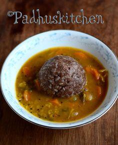 Padhuskitchen: Ragi Kali Recipe-Kezhvaragu Kali-Keppai Kali