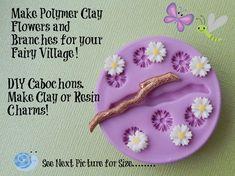 Fairy Flower Branch Silicone Mold Daisy DIY by WhysperFairy