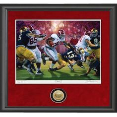 Alabama 2011 Championship Restoring the Order framed print /& coin Daniel Moore