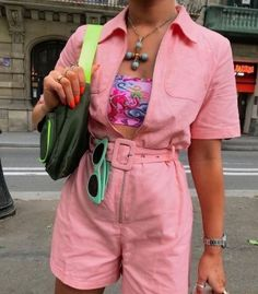 Colourful Outfits, Cool Outfits, Summer Outfits, Fashion Outfits, Womens Fashion, Fashion Trends, Grunge, Look Rose, Casual Chique