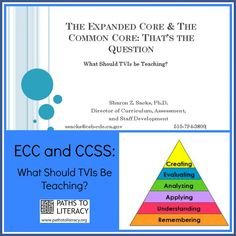 TVIs need to find ways to integrate the #ECC (Expanded Core Curriculum) and #CCSS (Common Core State Standards).