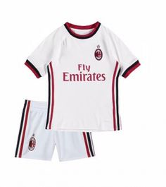 2017 Cheap Youth Kit AC Milan Away Replica White Suit [AFC626]
