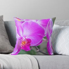 -  Vibrant double-sided print throw pillows to update any room.   -  Independent designs, custom printed when you order.   -  Soft and durable 100% spun polyester cover with an optional polyester fill/insert.   -  Concealed zip opening for a clean look and easy care.   . . . #pillows  #cushions  #bitsofeverywhere  #orchidcushion   #pinkflowers  #flowers