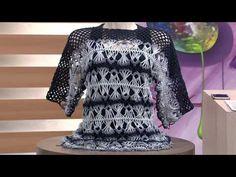 Mulher.com - 13 01 2017 - Blusa em crochê de grampo - 69257065620
