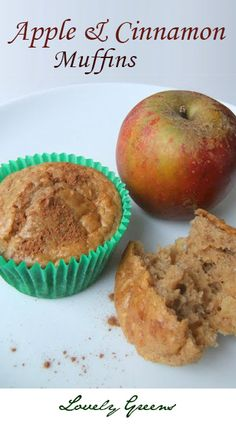 Delicious recipe for homemade Apple & Cinnamon muffins