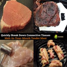 Quickly break down connective tissue and make melt in your mouth tender meat with this meat tenderizer http://cavetools.com/products/meat-tenderizer-mallet