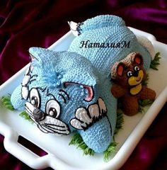 Tom And Jerry Cake, Tom Und Jerry, Pretty Cakes, Cute Cakes, Jungle Theme Cakes, Kitten Cake, Whipped Cream Cakes, Buttercream Cake Designs, Cake Pops