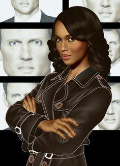 Scandal, featuring the first network TV drama with a black female lead character since 1974. And yet, doesn't make it about race or gender!