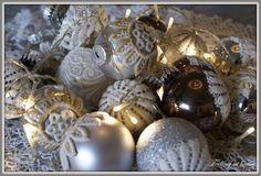 Brocante kerstballen
