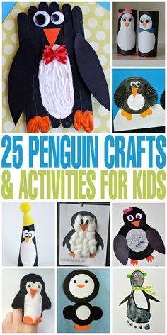25 Penguin Crafts & Activities for Kids - fun, winter activities for kids!