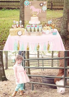 Giddy up ya'll! Stacy Rackley ofOlivia Grace Paperiehas got the cutest stinkin' Fancy Farmgirl Birthday Party to share today! Filled with cowgirl inspire