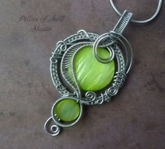 Wire Wrapped jewelry handmade / wire wrapped by PillarOfSaltStudio, $38.00