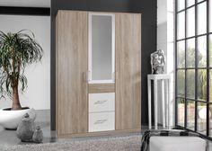 Kleiderschrank Click 135,0 Sägerau Weiß 10404. Buy now at https://www.moebel-wohnbar.de/kleiderschrank-click-135-0-saegerau-weiss-10404