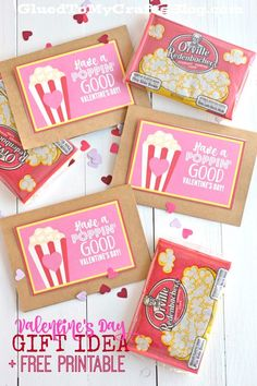 Poppin & # Idea regalo Good Valentine& Day w / stampabile gratuitamente Kinder Valentines, Valentines Day Food, Valentine Day Crafts, Valentines Ideas For School, Free Printable Valentines, Valentine Gifts For Teachers, Valentine Party, Homemade Valentines, Printable Crafts