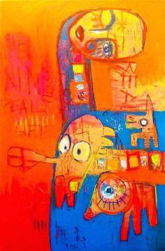 "Saatchi Art Artist mitsi b kral; Painting, ""KEEP IT REAL"" #art"
