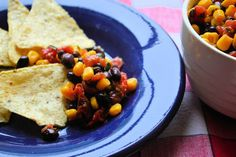 Cabin Cleaver: Black Bean Corn Salsa with Roasted Cherry Tomatoes...