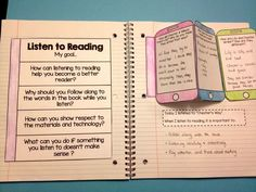 Daily 5 interactive notebook FREEBIE! 2 pages for each of the Daily 5 Activities: Read to Self, Listen to Reading, Buddy Reading (Read with someone), Word work and Work on Writing! From Tina's Teaching Treasures