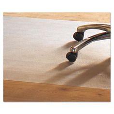 Mammoth Office Products 46 x 60 Hard Floor Chair Mat, Rectangular, Clear