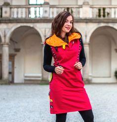 Šaty / tunika - 100% bavlna / Zboží prodejce Jane Art | Fler.cz Peplum Dress, High Neck Dress, Dresses For Work, Fashion, Tunic, Turtleneck Dress, Moda, Fashion Styles, Fashion Illustrations