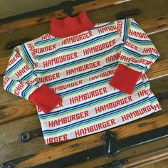 70s Healthtex Hamburger Shirt  Size 3T  Vintage by MyVintagePoint
