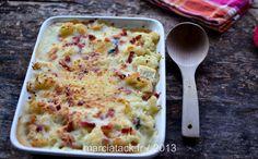 Gratin de chou fleur aux lardons et au fromage de chèvre