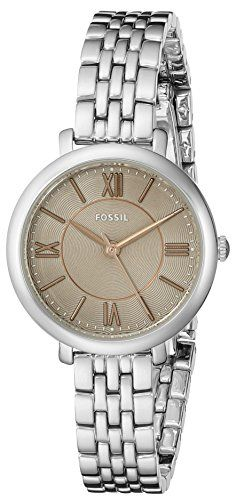 Fossil Womens ES3846 Jacqueline Small ThreeHand Stainless Steel Watch -- Click on the image for additional details.(It is Amazon affiliate link) #comments