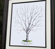 Mariage livre livre d'or alternative poster d'arbre par fancyprints