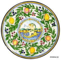 FIRENZUOLA: Large Wall Plate (24 Inches)[#1706-PEA]