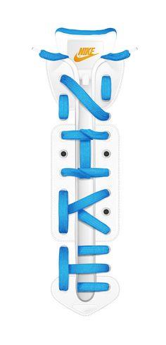 Nike laces lettering by Baimu studio, via Behance